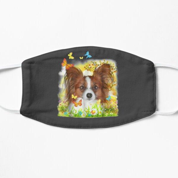 Papillon Dog  Flat Mask