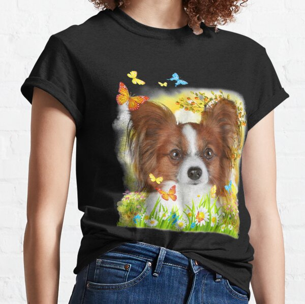 Papillon Dog  Classic T-Shirt