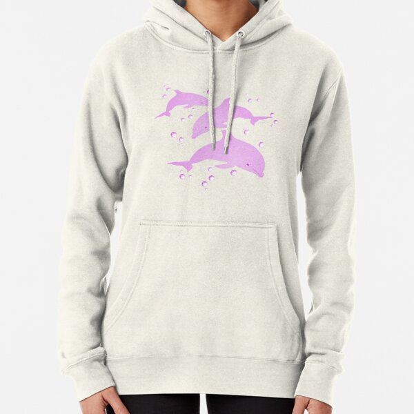 Pink Dolphins Pullover Hoodie