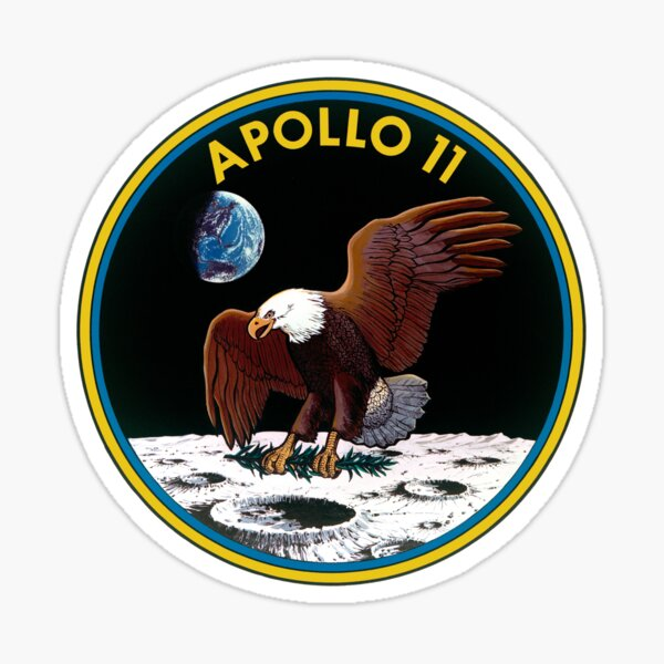 Apollo 11 Mission Logo Sticker