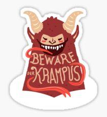Beware Der Krampus Sticker