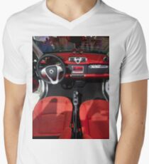 Smart ForTwo Turbo Cabrio Tritop Inside [ Print & iPad / iPod / iPhone Case ] Mens V-Neck T-Shirt