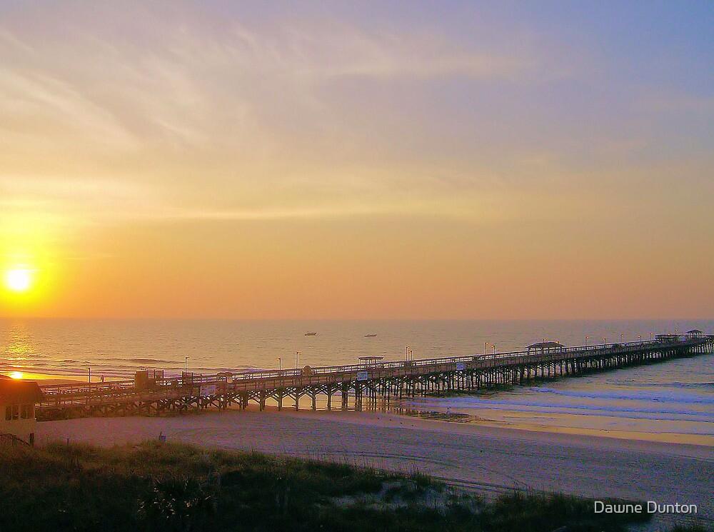 Amazing Morning At The Pier by Dawne Dunton
