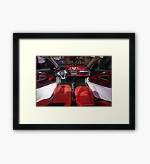 Smart ForTwo Turbo Cabrio Tritop Inside [ Print & iPad / iPod / iPhone Case ] Framed Print