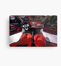 Smart ForTwo Turbo Cabrio Tritop Inside [ Print & iPad / iPod / iPhone Case ] Metal Print