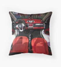 Smart ForTwo Turbo Cabrio Tritop Inside [ Print & iPad / iPod / iPhone Case ] Throw Pillow