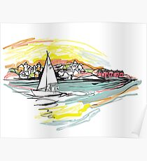 Sailing from Donsö harbor Poster
