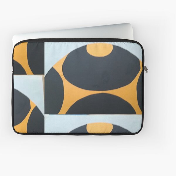 Collage in orange and black Laptop Sleeve