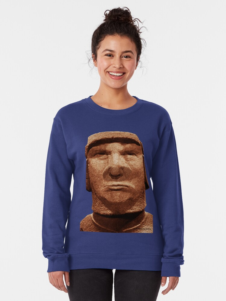 Alternate view of Trump Easter Island Head Pullover Sweatshirt