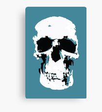 Sherlock Skull Wall Hanging Canvas Print
