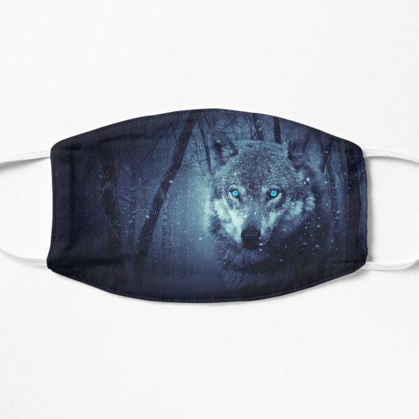 Loup gris aux yeux bleus Masque taille M/L