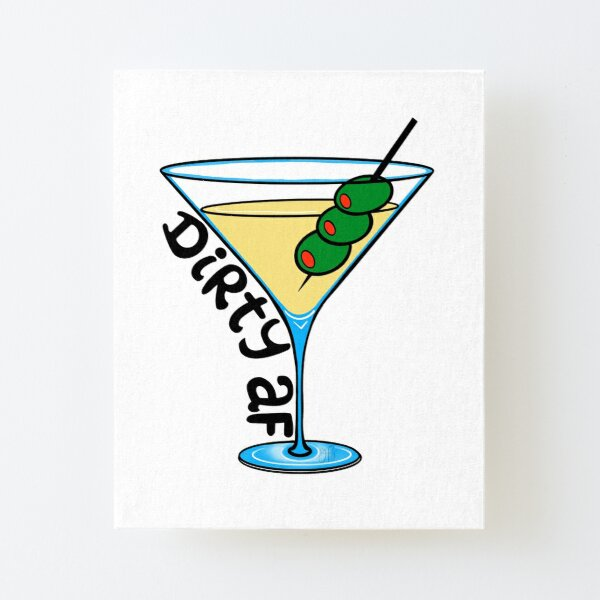 Dirty Martini Canvas Mounted Print