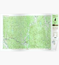 USGS TOPO Map New Hampshire NH Winchester 329920 1984 25000 Poster