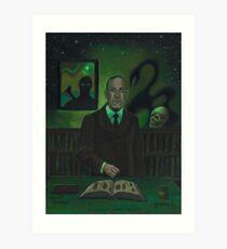 HP Lovecraft Portrait Art Print
