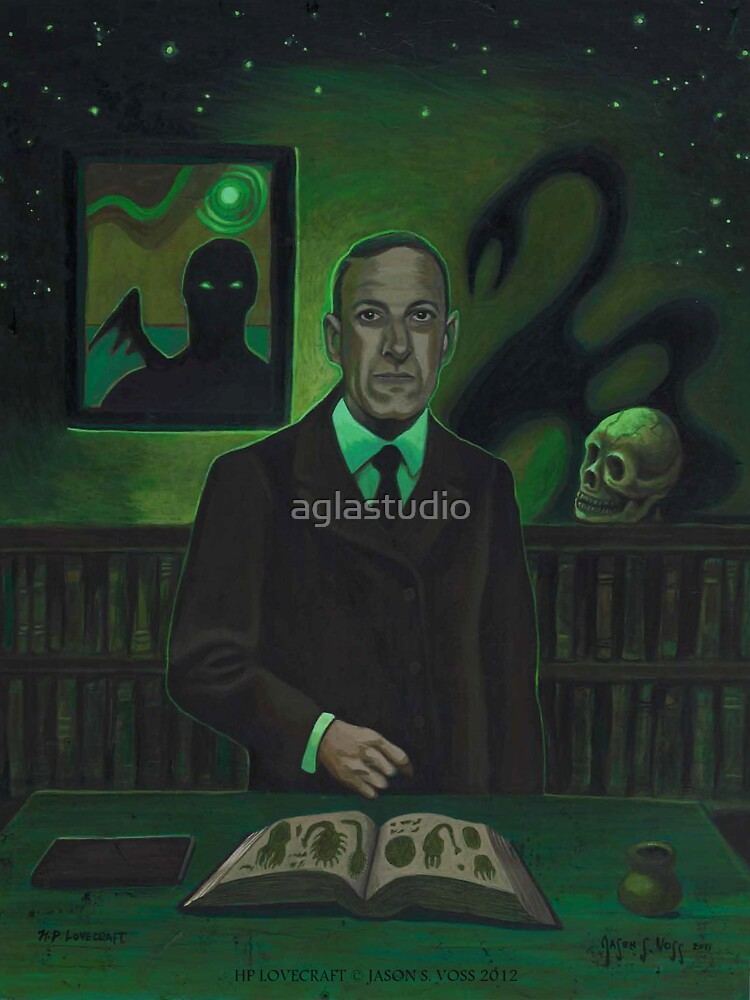 HP Lovecraft Portrait by aglastudio