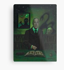 HP Lovecraft Portrait Metal Print