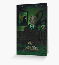 HP Lovecraft Portrait Greeting Card