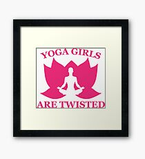 Yoga Girls Are Twisted Framed Print
