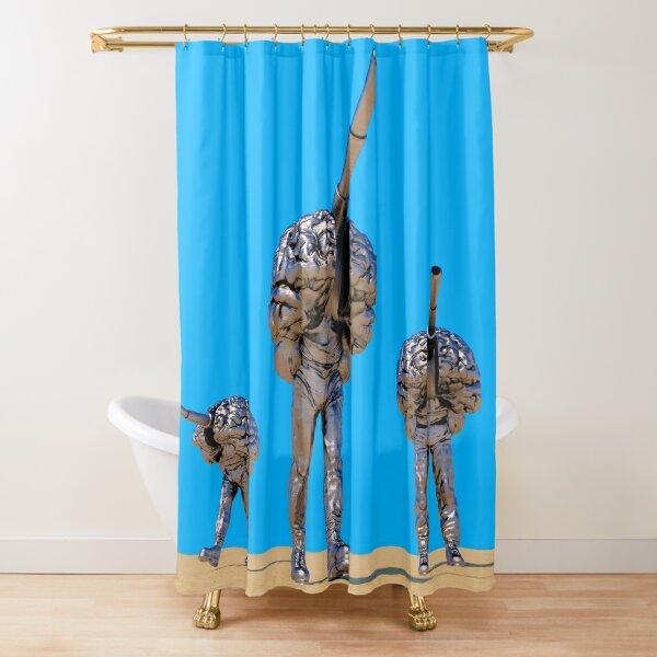 Battle Robots Shower Curtain