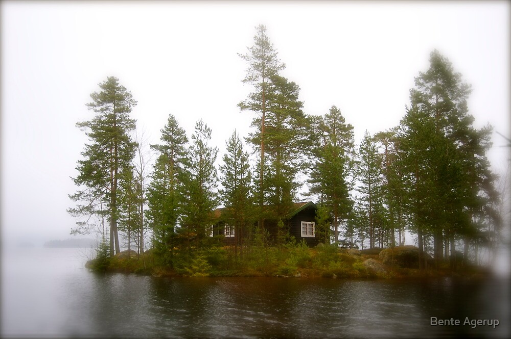 Cabin on the Island by Bente Agerup
