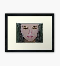 Thalia in acrylic and oil Pastel.... Framed Print