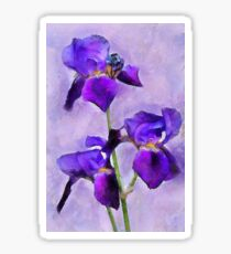 Purple Irises - painted Sticker