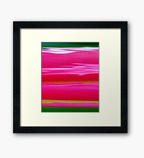 Tulip, abstract Framed Print