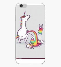 unicorn peeing on bunny iPhone Case