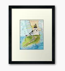 Old Pt Loma Lighthouse CA Chart Cathy Peek Map Framed Print