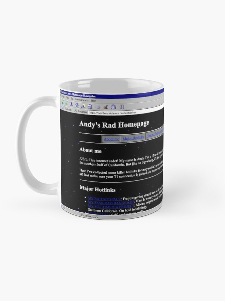 Alternate view of researcher on Vistaserv.net Mug