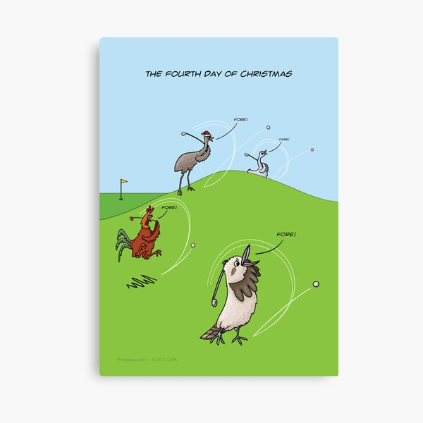 The Fourth Day of Christmas (4 Calling Birds) Canvas Print
