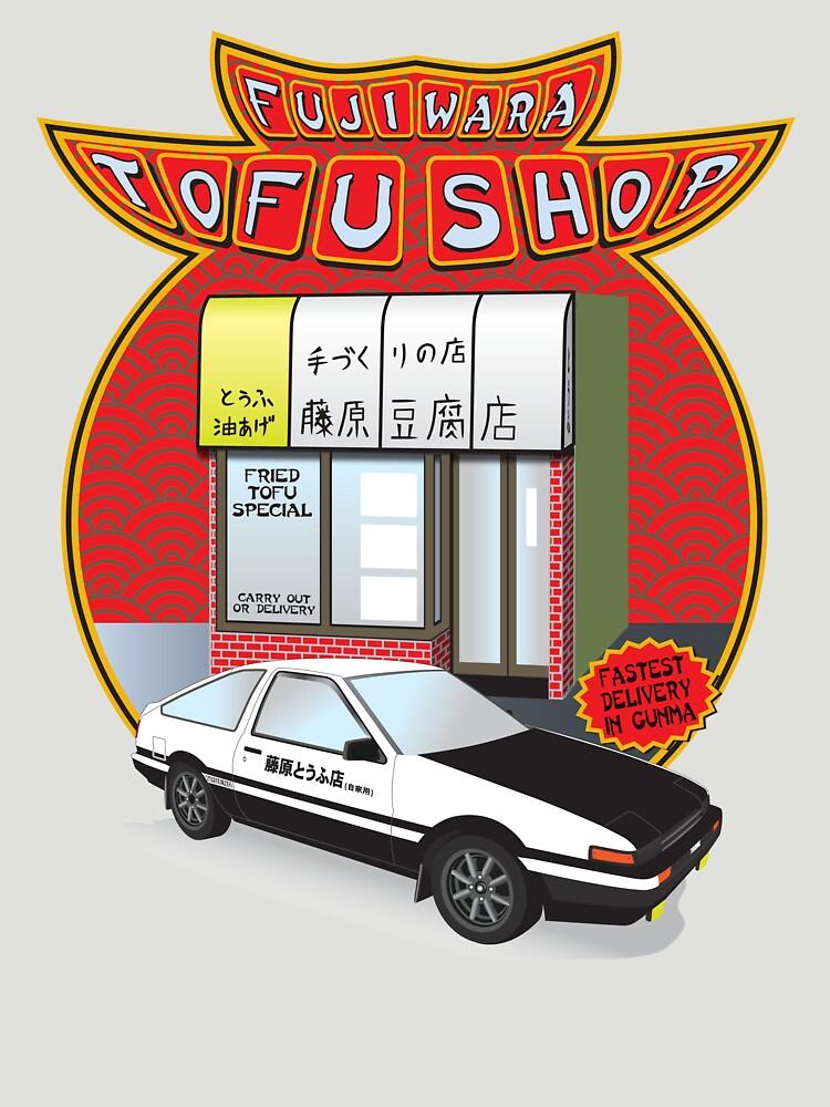 Initial D- Fujiwara Tofu Shop | Unisex T-Shirt