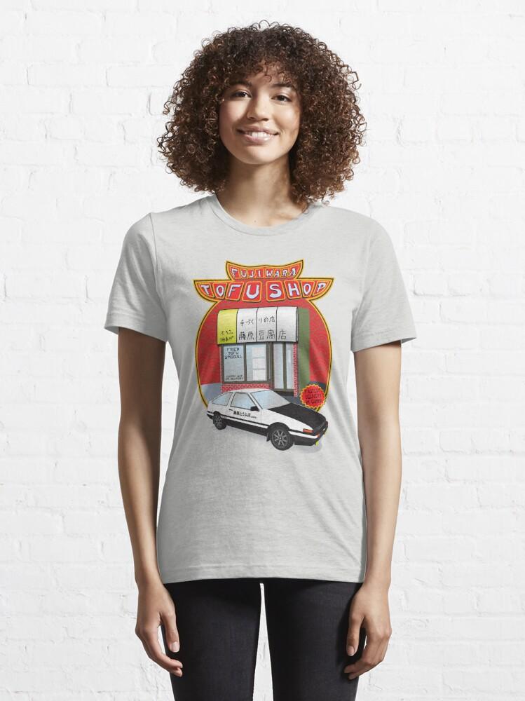 Alternate view of Initial D- Fujiwara Tofu Shop Essential T-Shirt