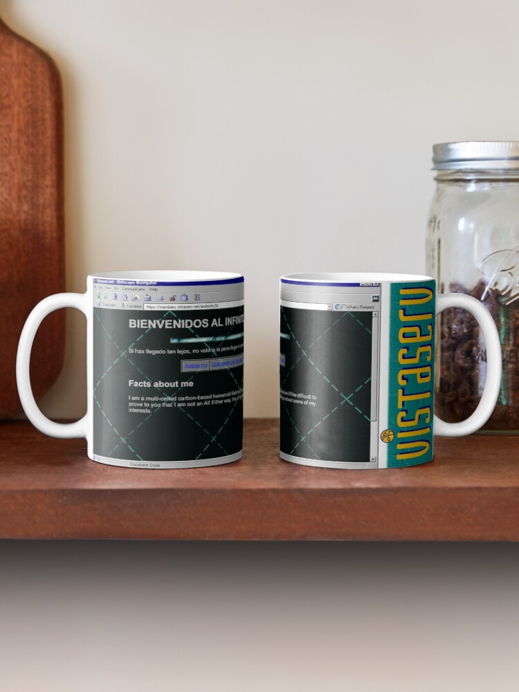 A mug with a screenshot of andreshc3d's home page on it