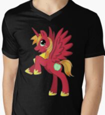 Big Macintosh Alicorn MLP Mens V-Neck T-Shirt