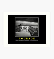 Courage -- D Day Poster Art Print