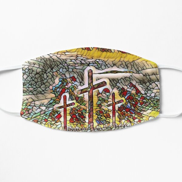 Stained Glass Cross Design Mask