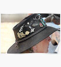 Aussie Hat & Badges Poster