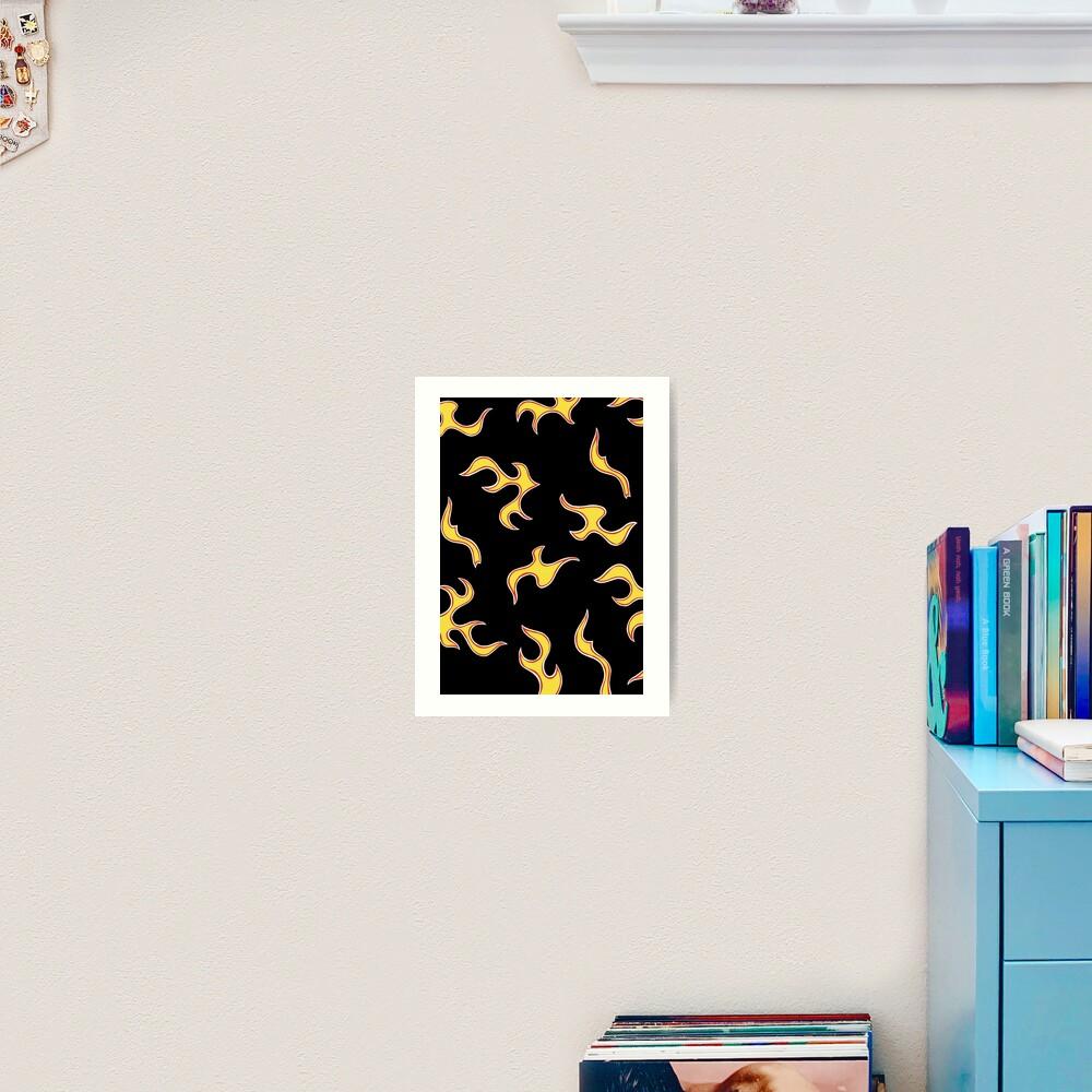 Golf Wang Flame Print Black Art Print By Calistaxx Redbubble