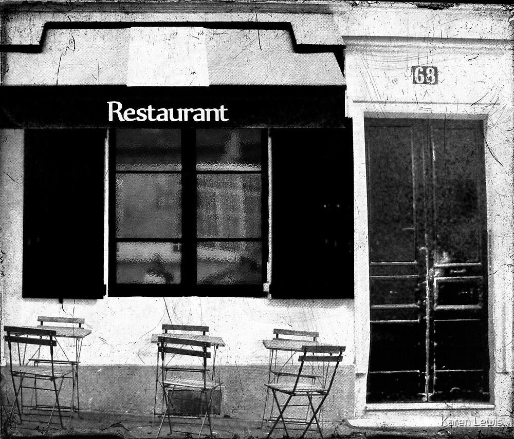 Parisian Restaurant by Karen Lewis