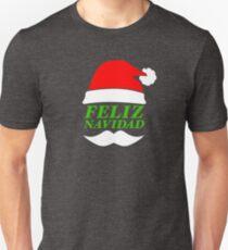 Feliz Navidad Santa Slim Fit T-Shirt