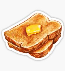 Buttered Toast Pattern Sticker