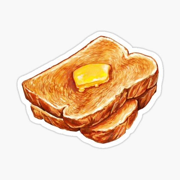 Buttered Toast Pattern Sticker