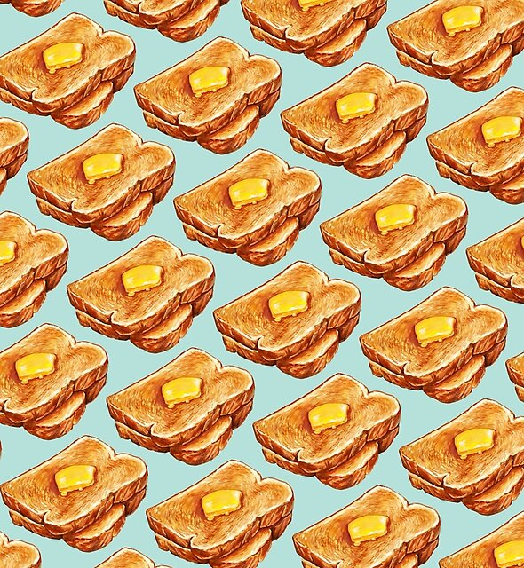 Buttered Toast Pattern by Kelly  Gilleran