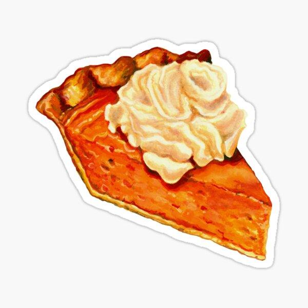 Pumpkin Pie Pattern Sticker