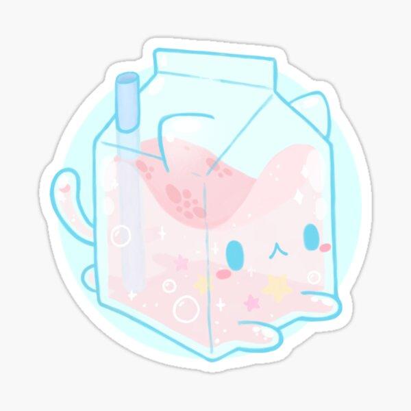 Cute strawberry milk - Kawaii food Sticker