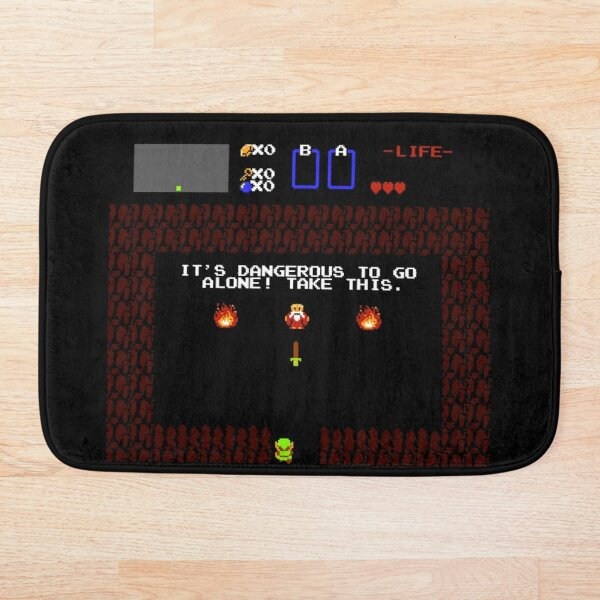 It's dangerous to go alone! Take this Bath Mat