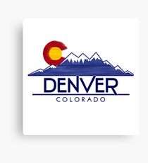 Denver Colorado wood mountains Canvas Print