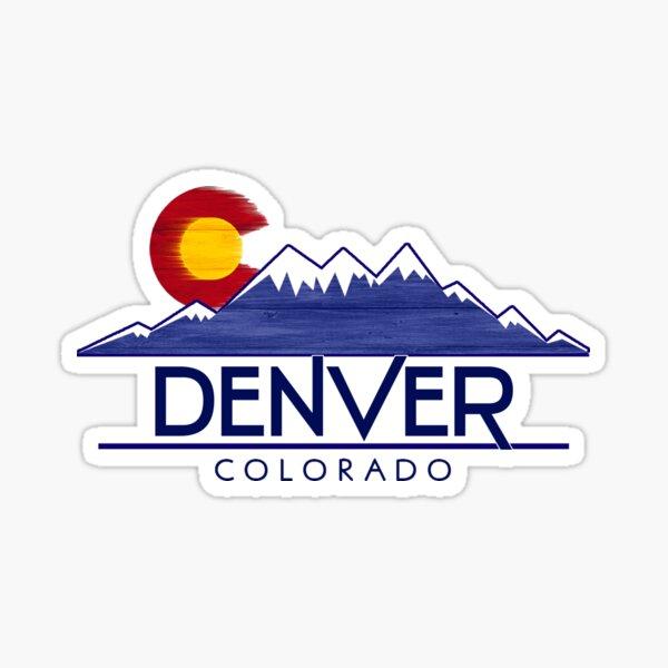 Denver Colorado wood mountains Sticker