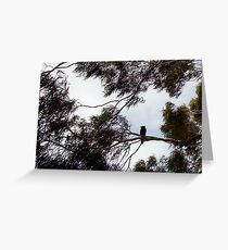 Crow In The Wind - 19 11 12 Greeting Card